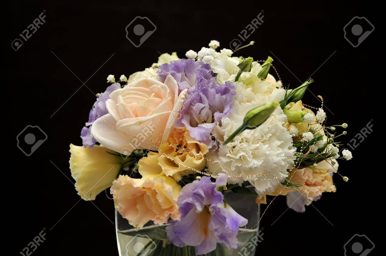 Bouquet of flowers on black background stock photo picture and bouquet of flowers on black background stock photo 10476539 izmirmasajfo