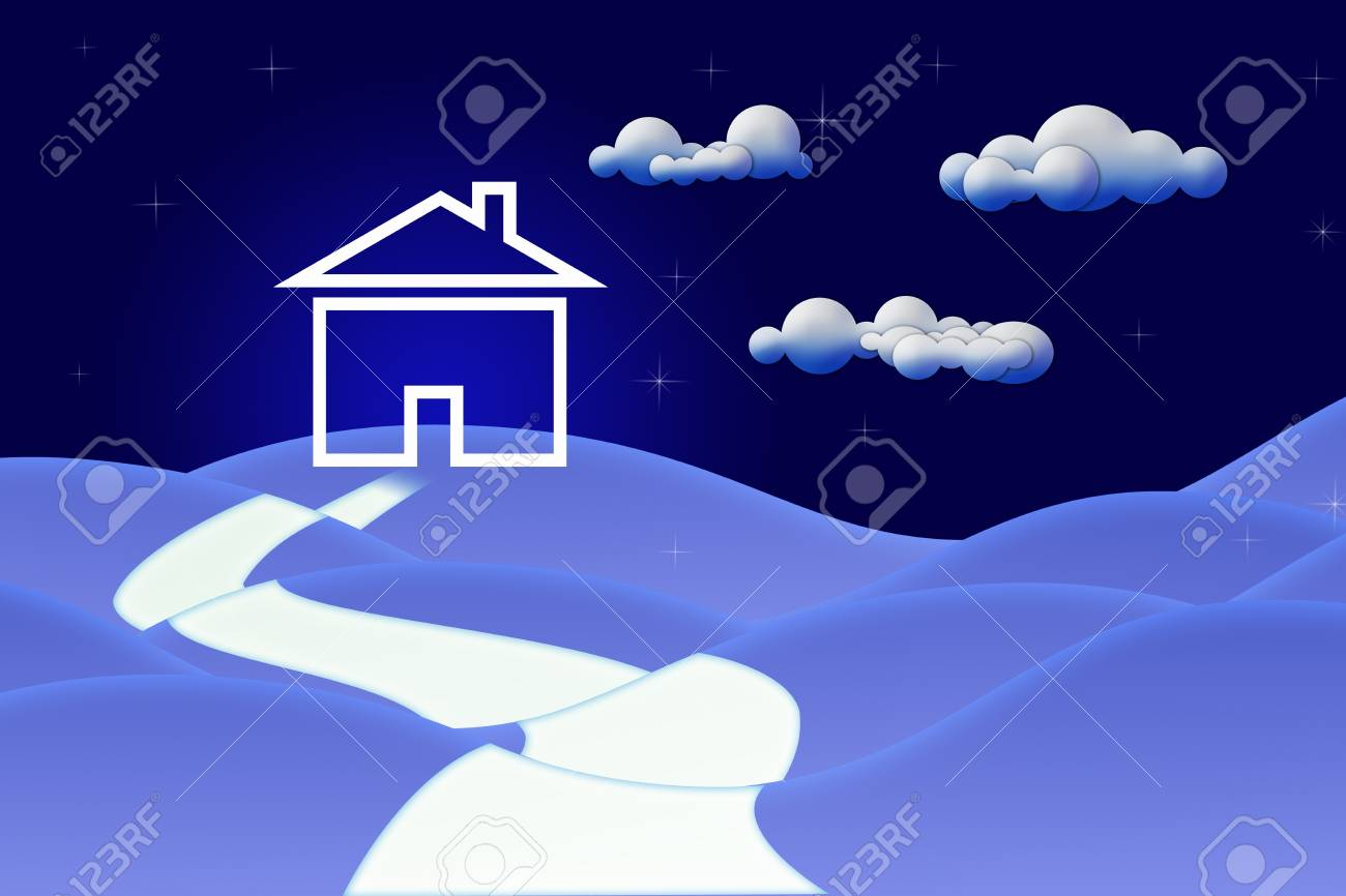Conceptual image - Road to House Stock Photo - 11762315