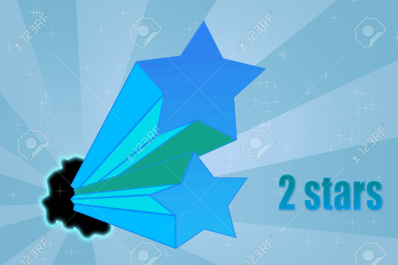 Five stars ratings on dynamic background Stock Photo - 12886740