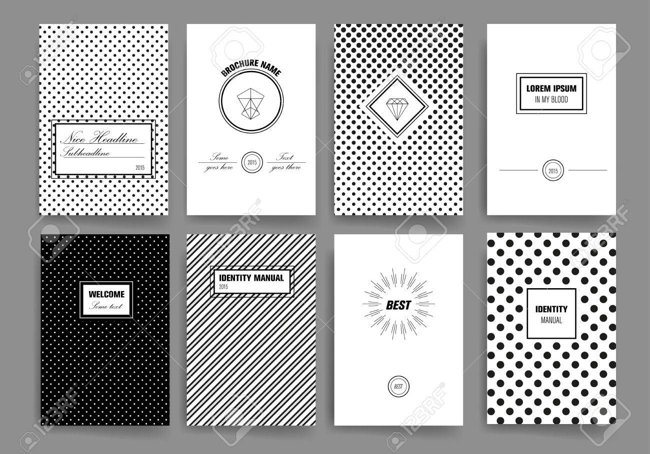 Set Of Trendy Posters With Hand Drawn Background Modern Hipster – Contemporary Flyer