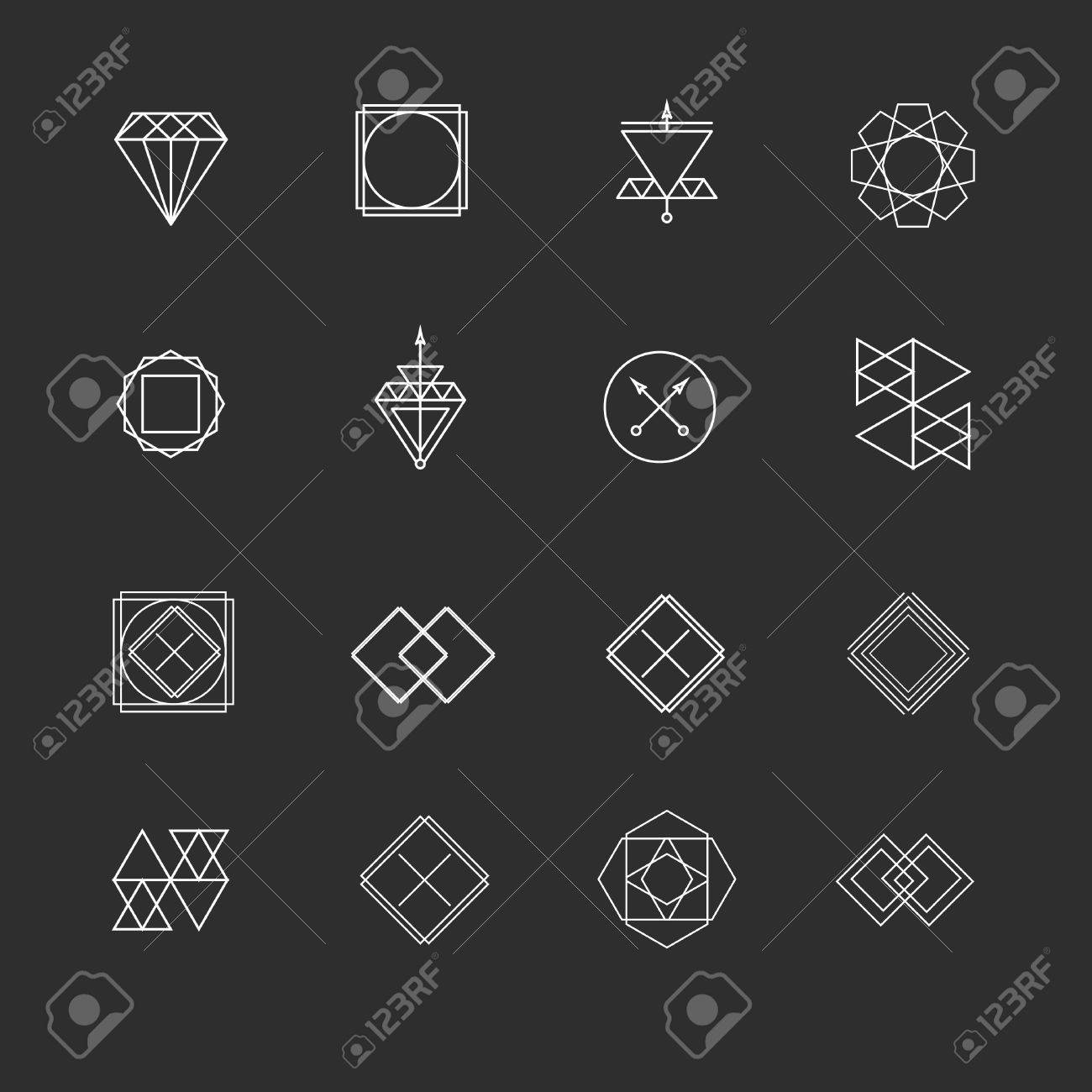 Vector Line Logos And Icons Line Design Elements For Invitations