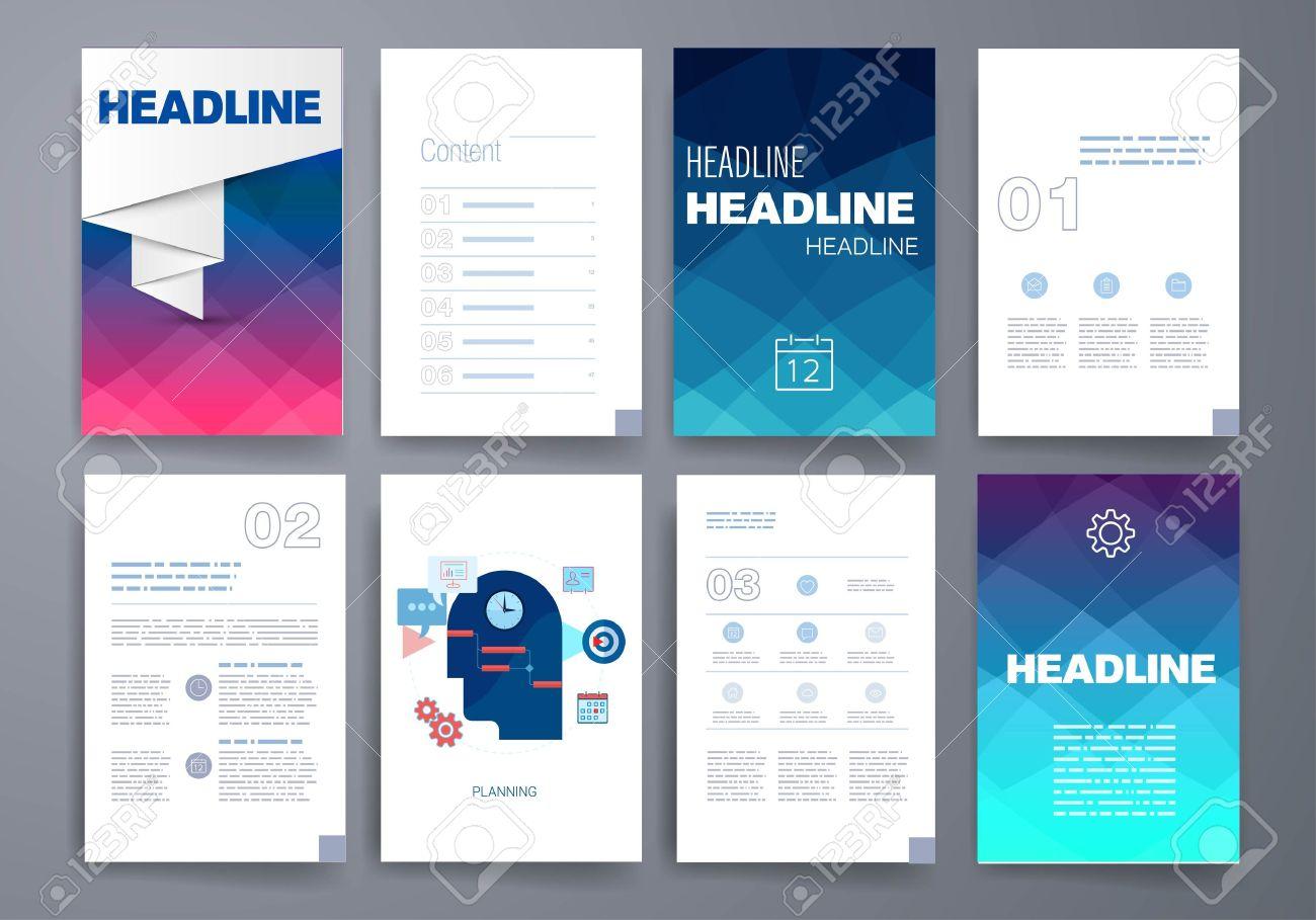 Templates. Design Set Of Web, Mail, Brochures. Mobile, Technology ...