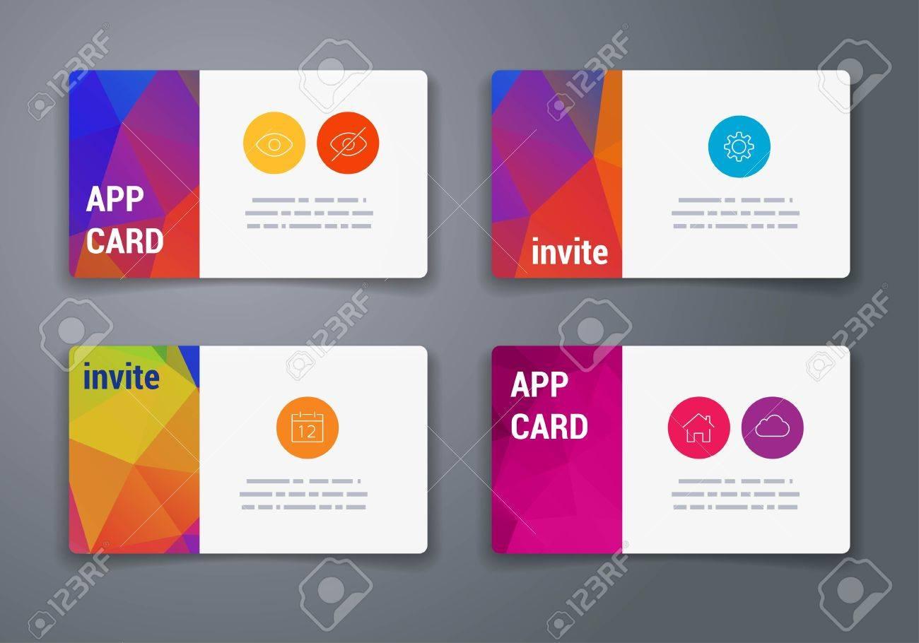 Carte De Visite Modle Abstrait Gomtrique Vecteur Disposition Design For Brochure Placard Ou Livret Mobile La Technologie Et Infographie