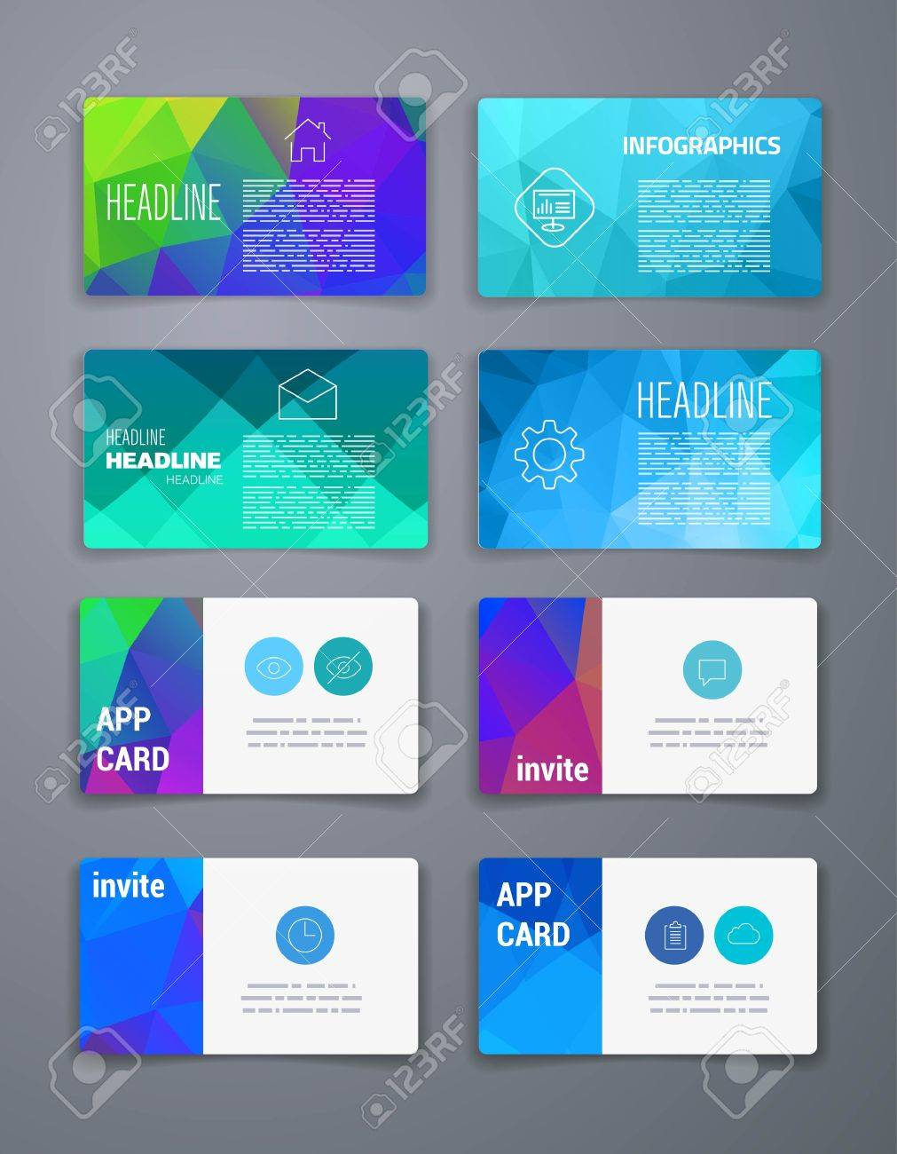 Template business card abstract geometric vector template layout business card abstract geometric vector template layout design for flyer placard reheart Image collections