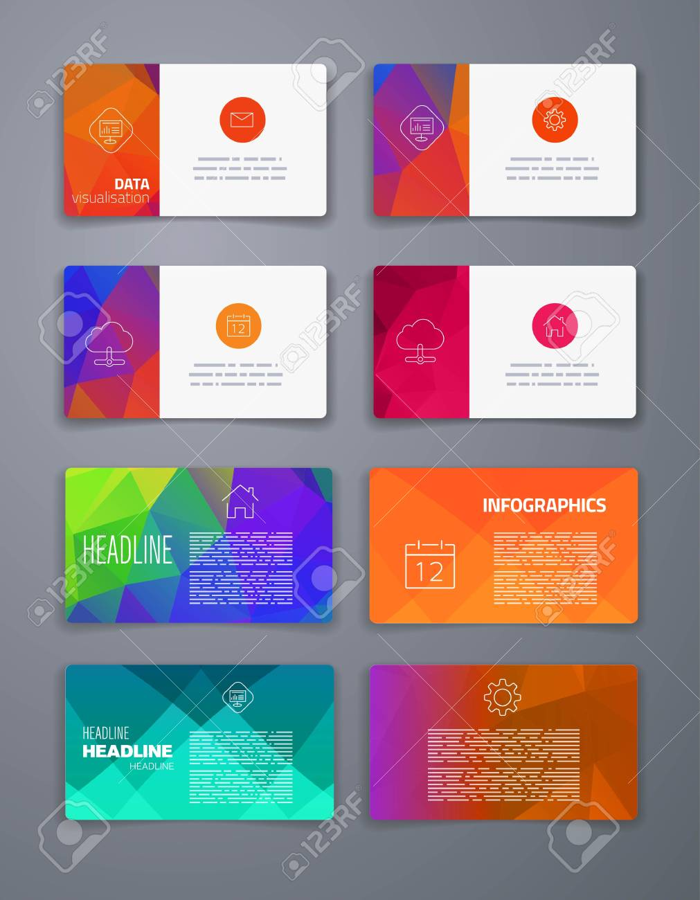 Template. Business Card. Abstract Geometric Vector Template Layout ...