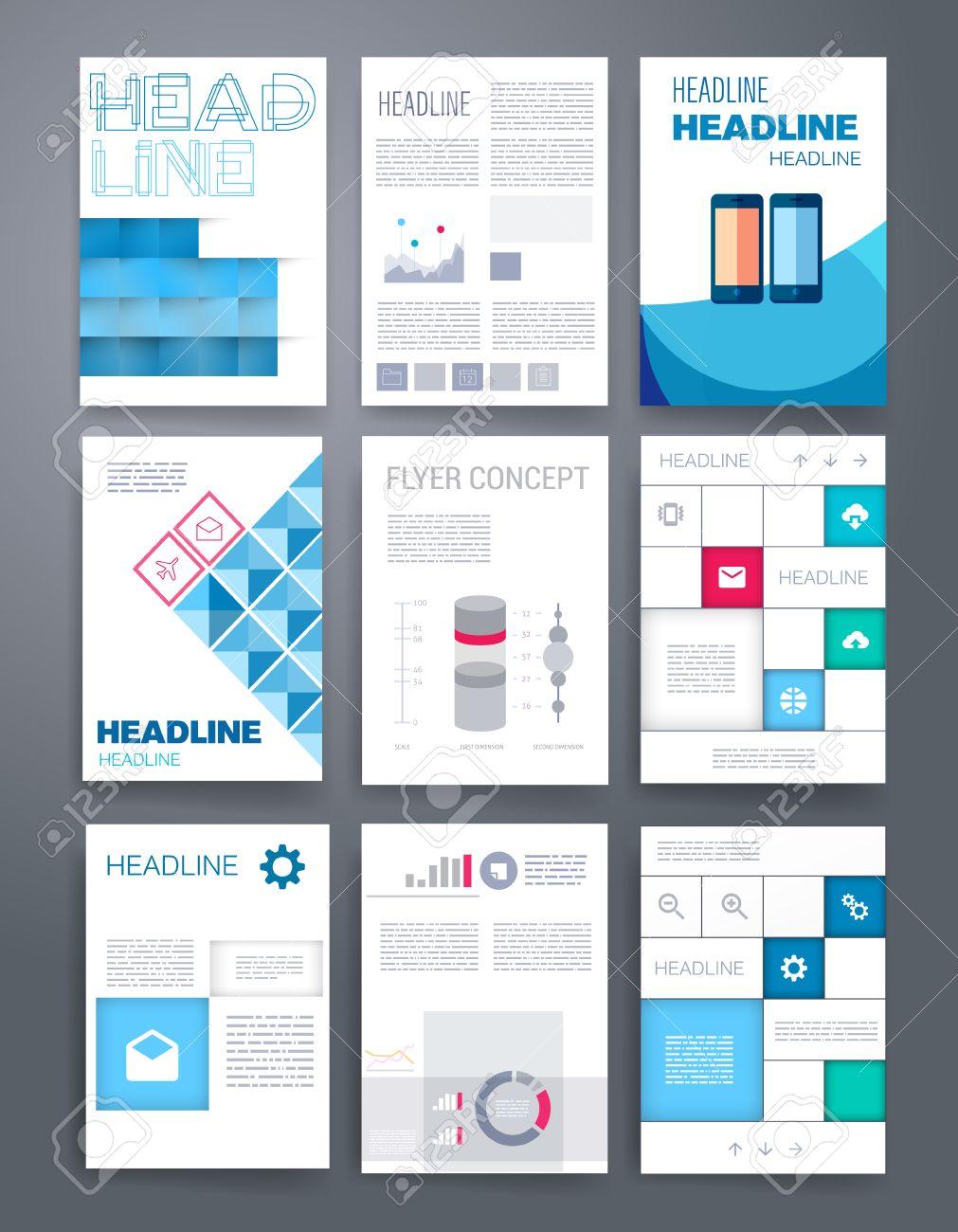 Vorlagen. Design Set Von Web, Post, Broschüren. Mobile, Technologie ...