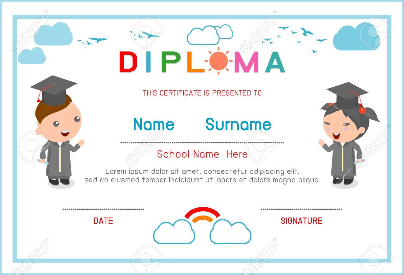 elementary graduation certificate