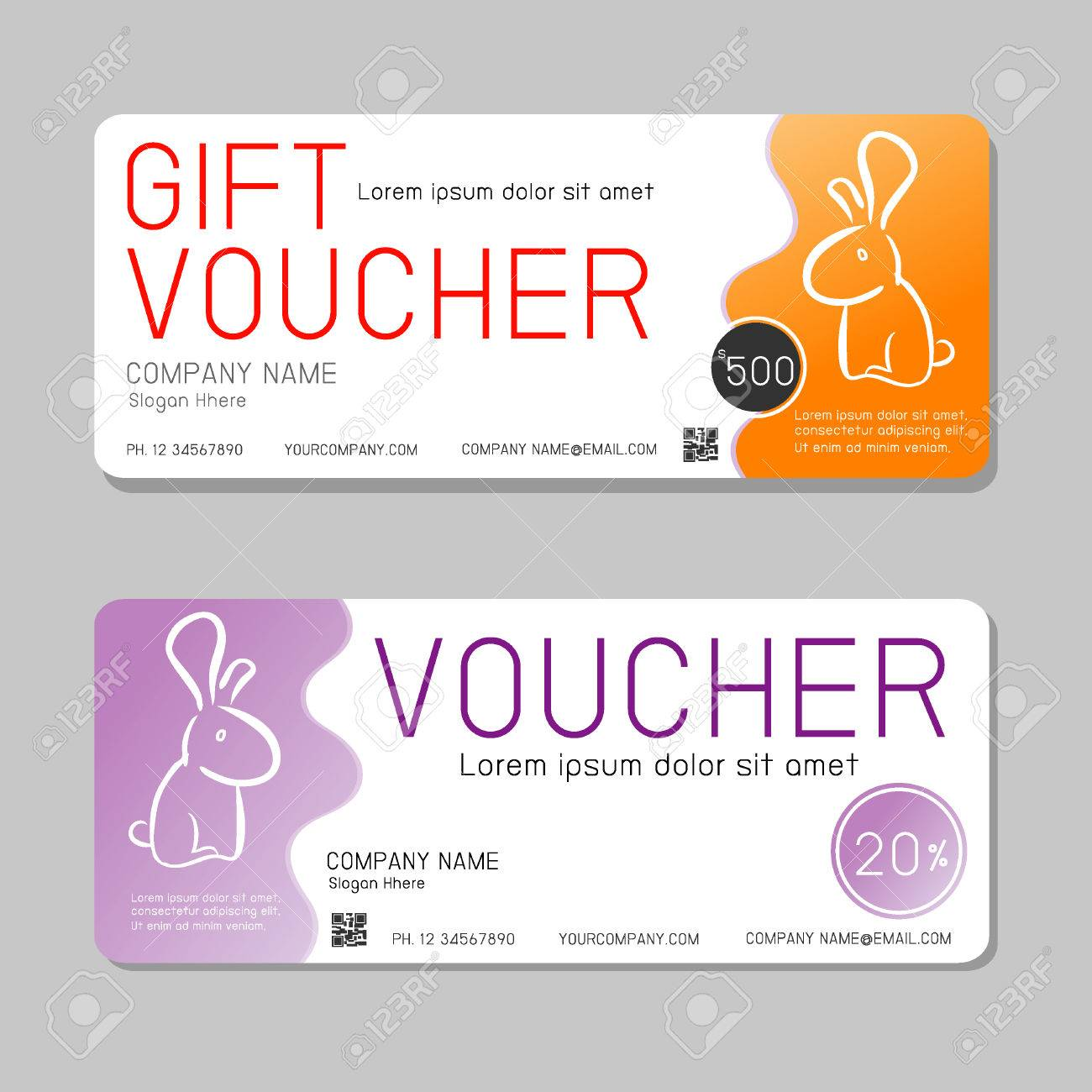 Gift Voucher Template And Modern Pattern. Voucher Template With ...