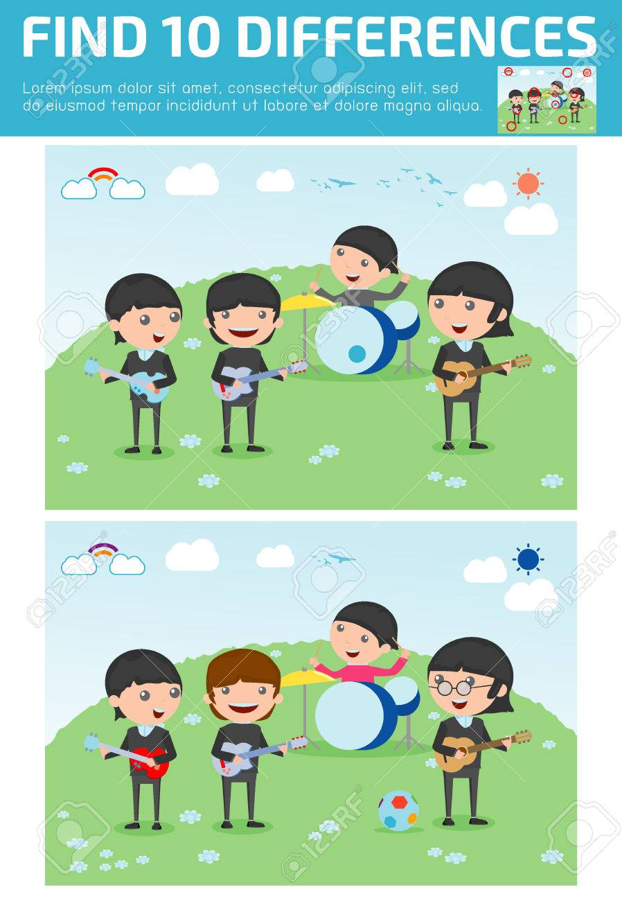 Music Games For Kids >> Find Differences Game For Kids Find Differences Brain Games