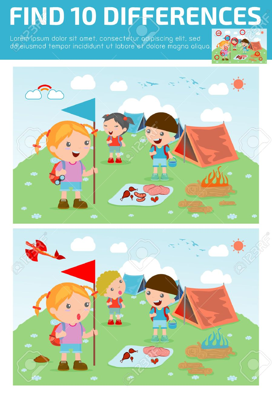 find differences,Game for kids ,find differences,Brain games,