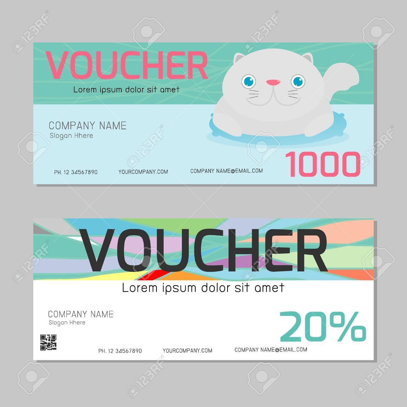 Gift Voucher Template With Clean And Modern Pattern Gift Voucher