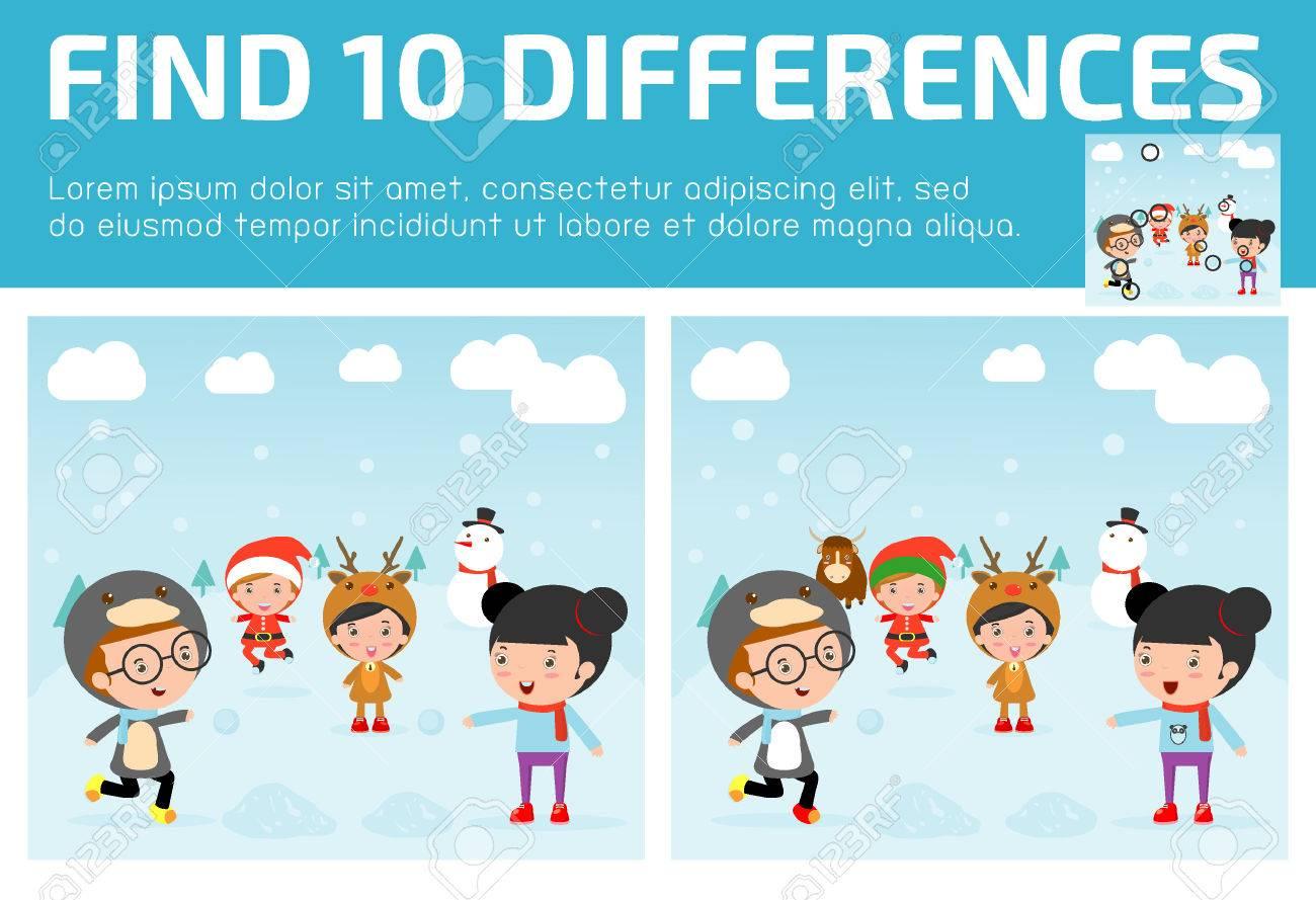 Encontrar Las Diferencias Juego Para Los Ninos Encontrar