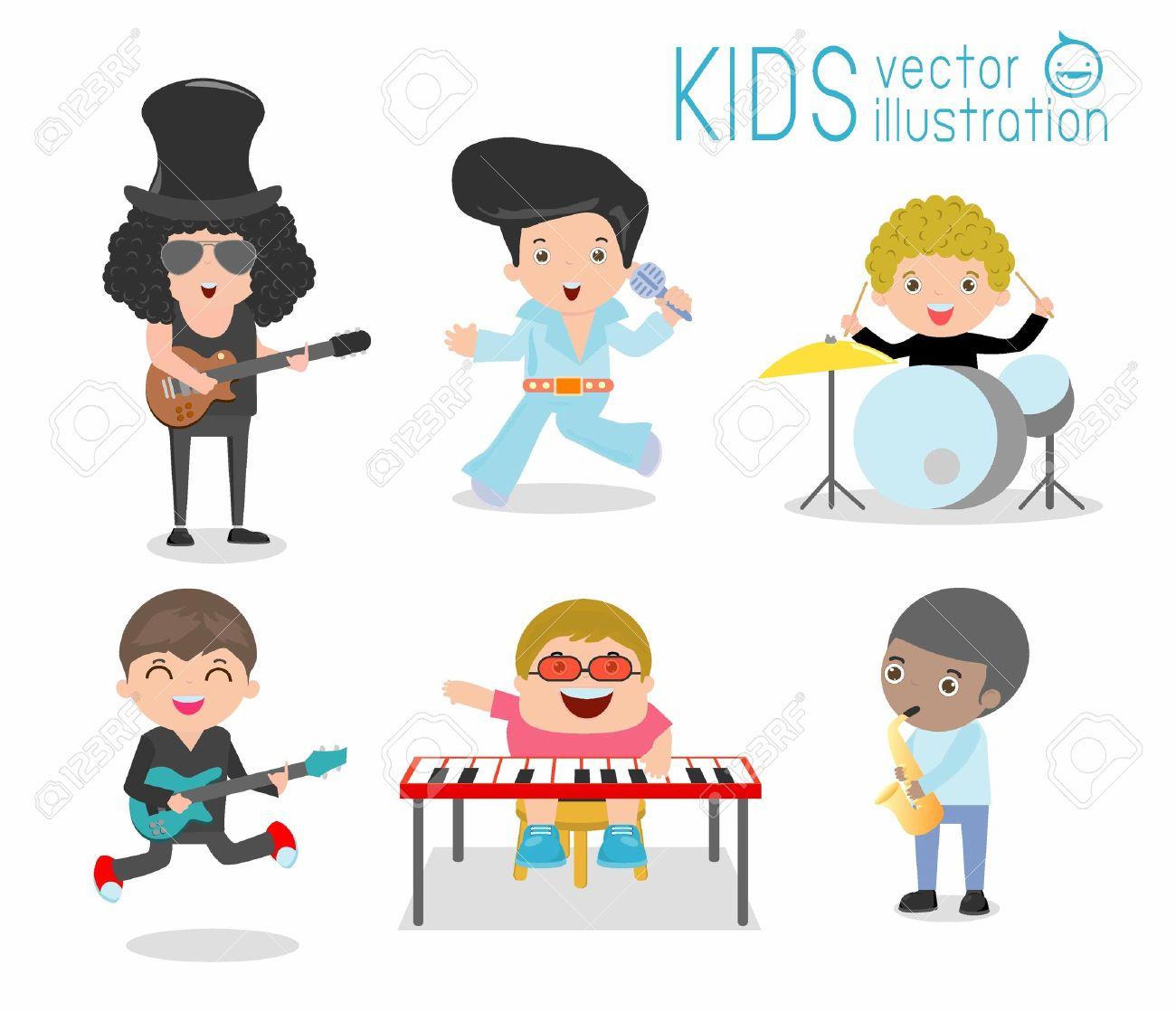子供たちと音楽楽器子供音楽ミュージカル別の楽器を演奏する