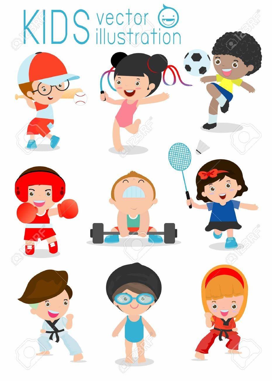 Kids playing various sports - 58452716