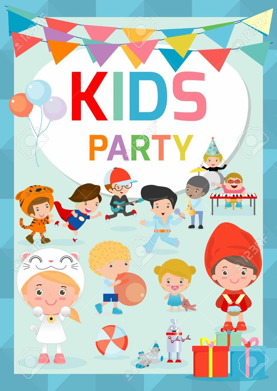 Kids party design template children happy party celebration flyer kids party design template children happy party celebration flyer banner or pamphlet template voltagebd Gallery