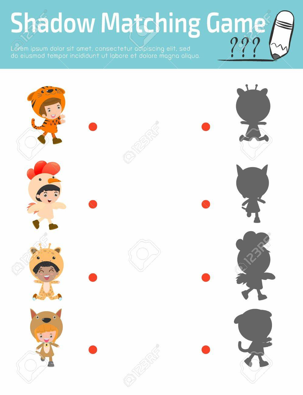 Shadow Matching Game For Kids Visual Game For Children Child