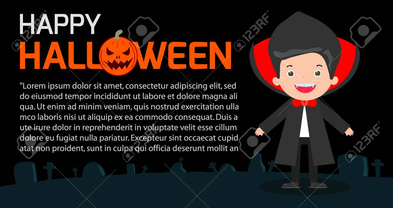 Happy Halloween Poster Party And Theme Design Background Stock Vector 63046896