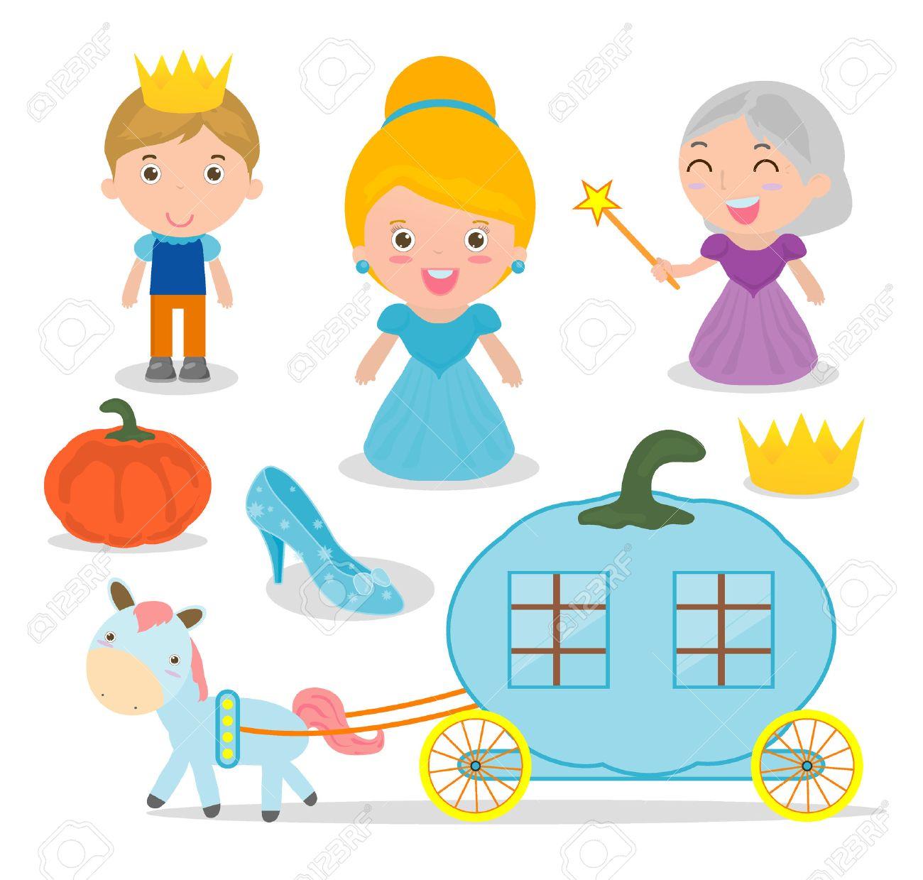 Cinderella vector illustration set on white background - 67894141
