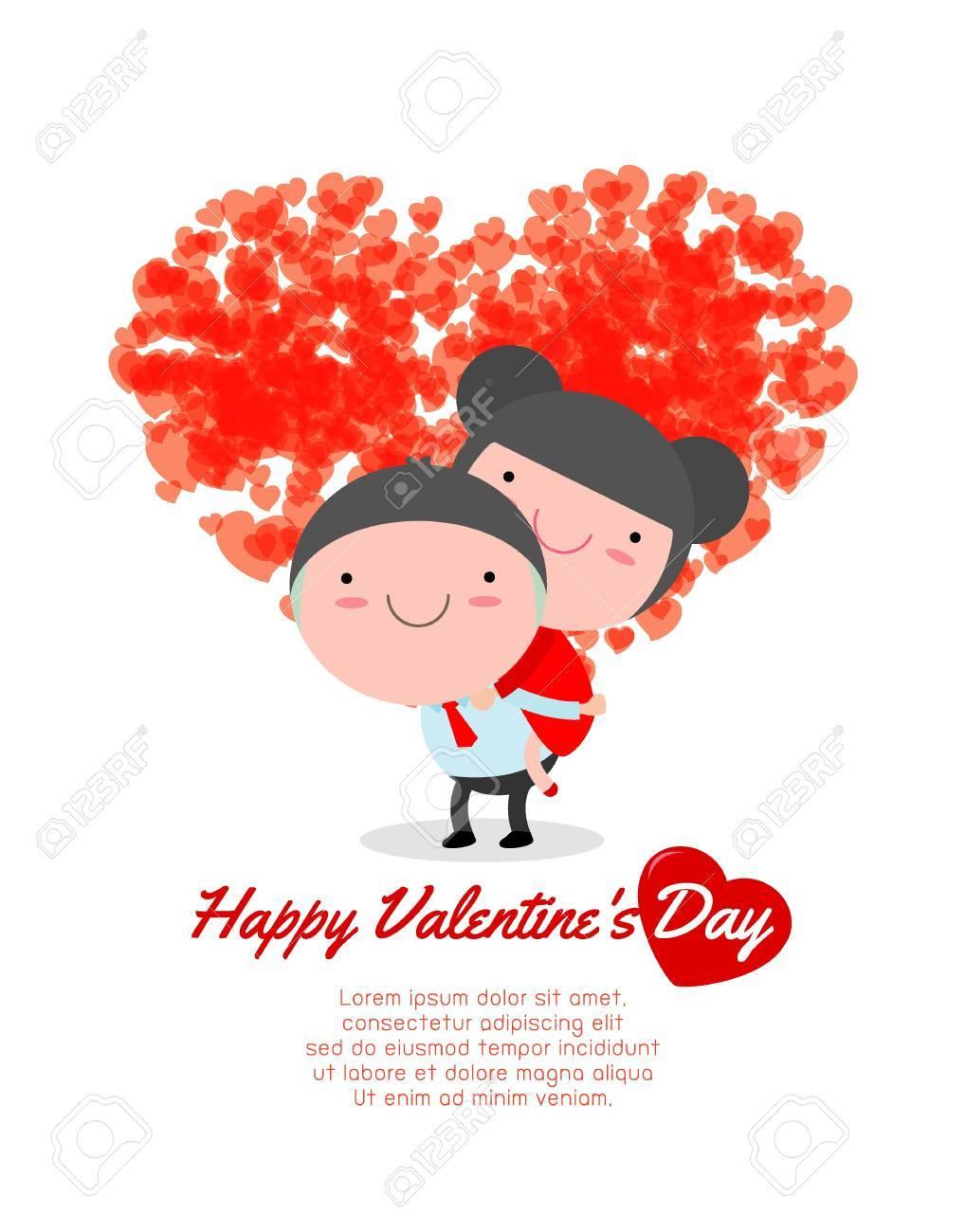 Joyeux Anniversaire De La Carte De Voeux De La Saint Valentin