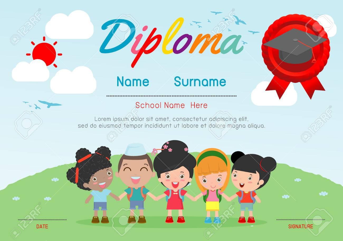 Certificados De Jardín De Infantes Y Elemental, Preschool Kids ...