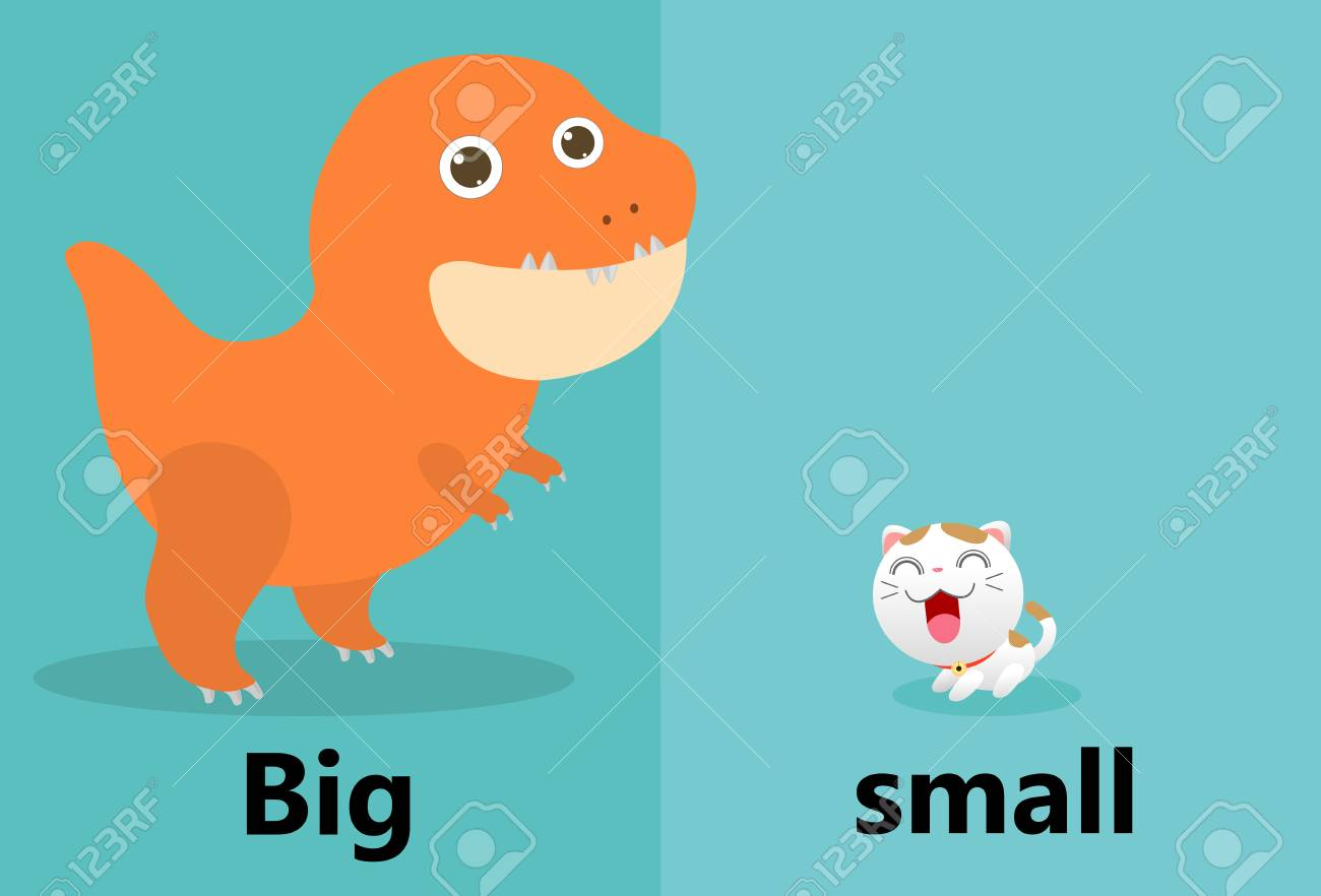 0e1a67a00f90 Opposite big and small illustration vector, Opposite English..