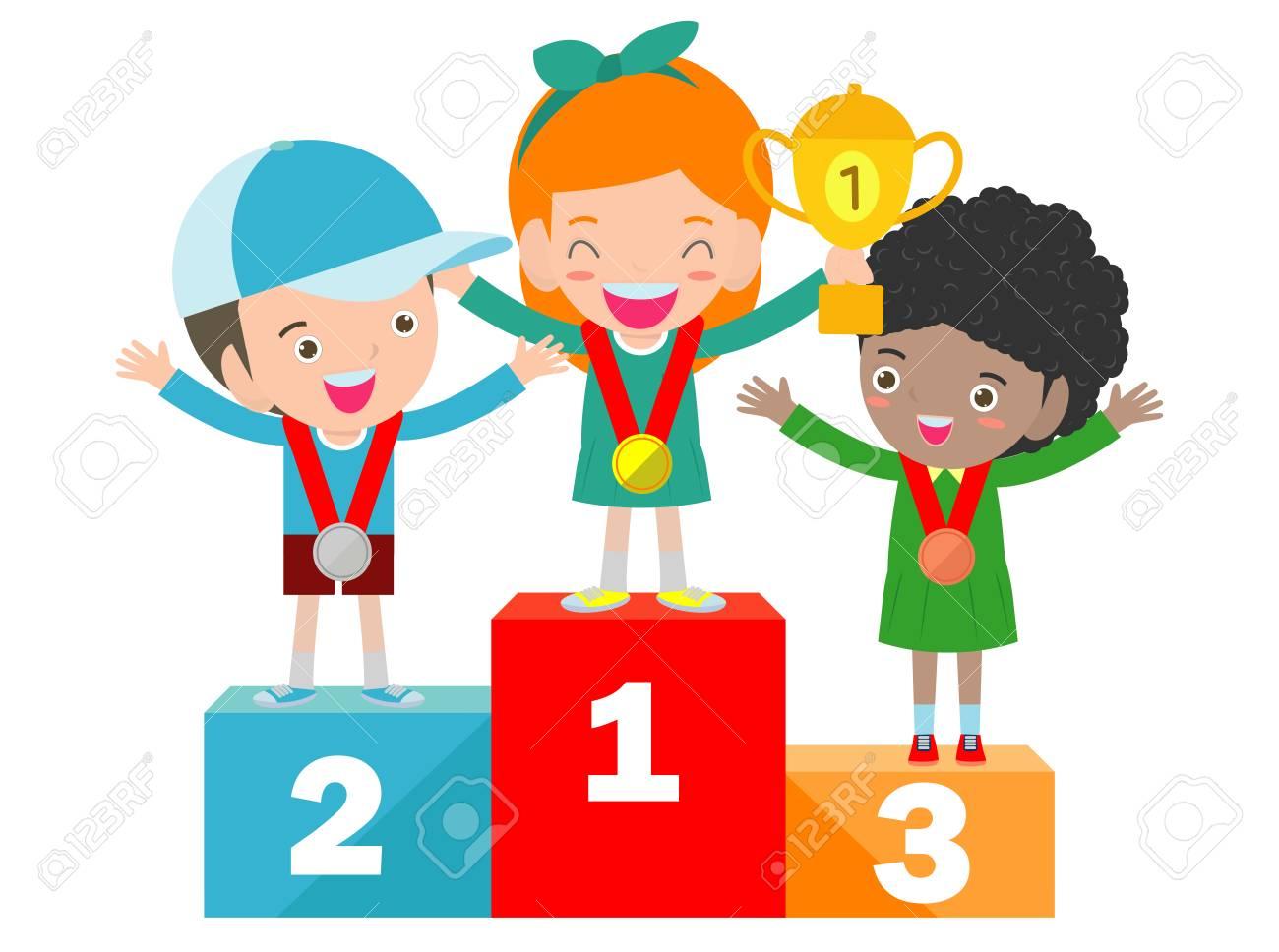 Image result for children cartoon winning at sports