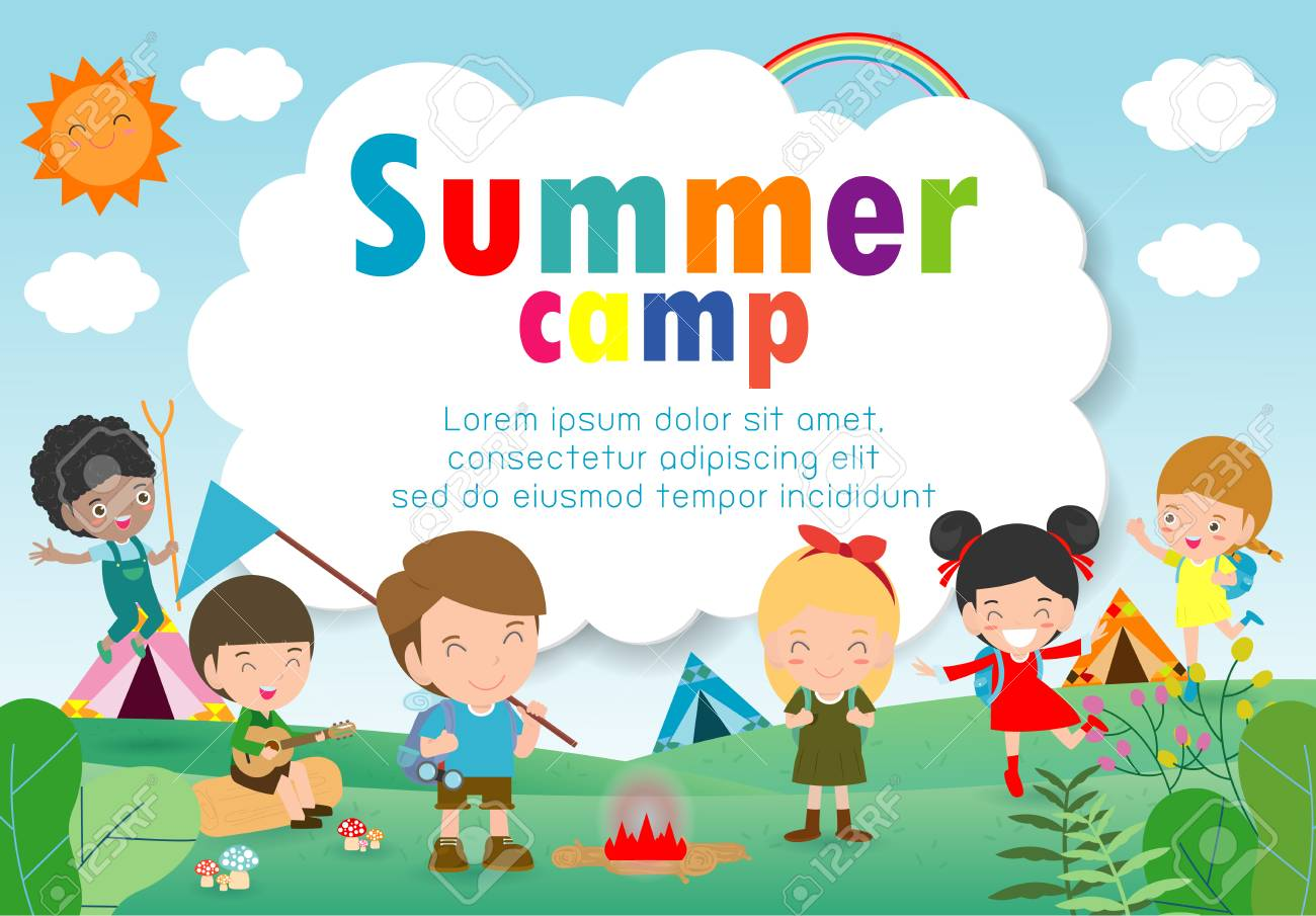 Kids Summer Camp Education Template For Advertising Brochure