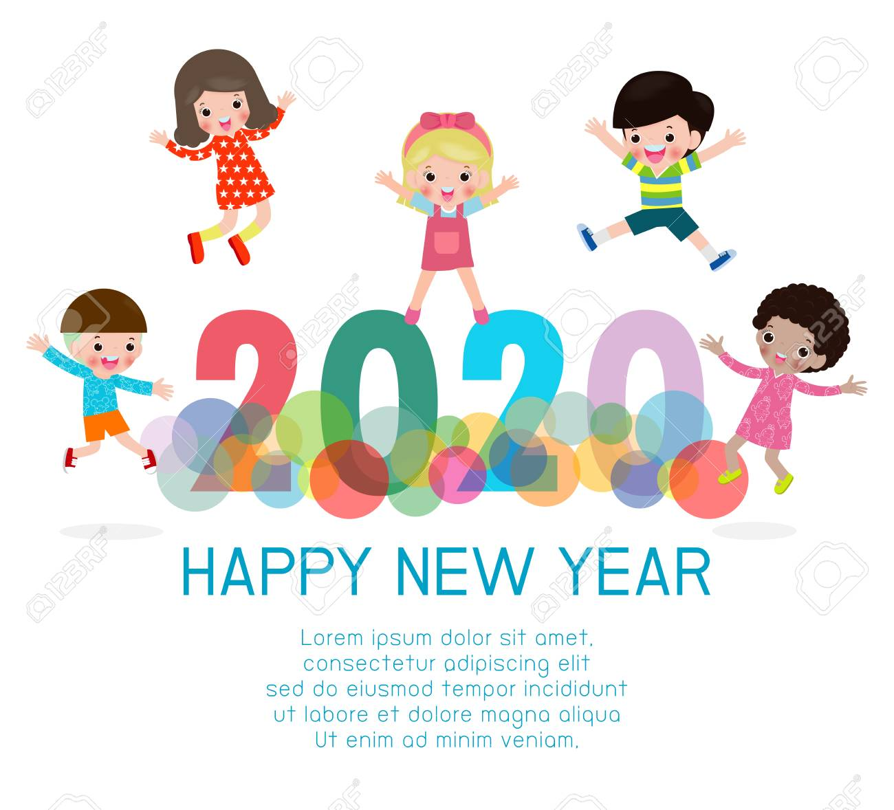 Happy New Year 2015 Clip Art Background
