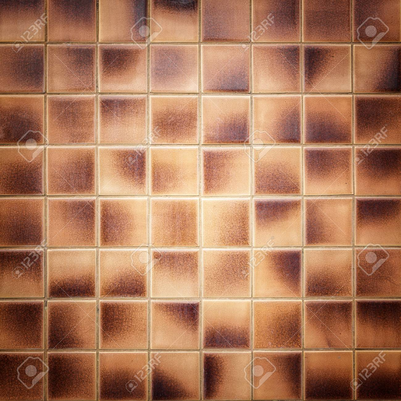 Close Up Old Pattern Brown Ceramic Bathroom Wall Tile Texture Stock Photo Picture And Royalty Free Image Image 42906816