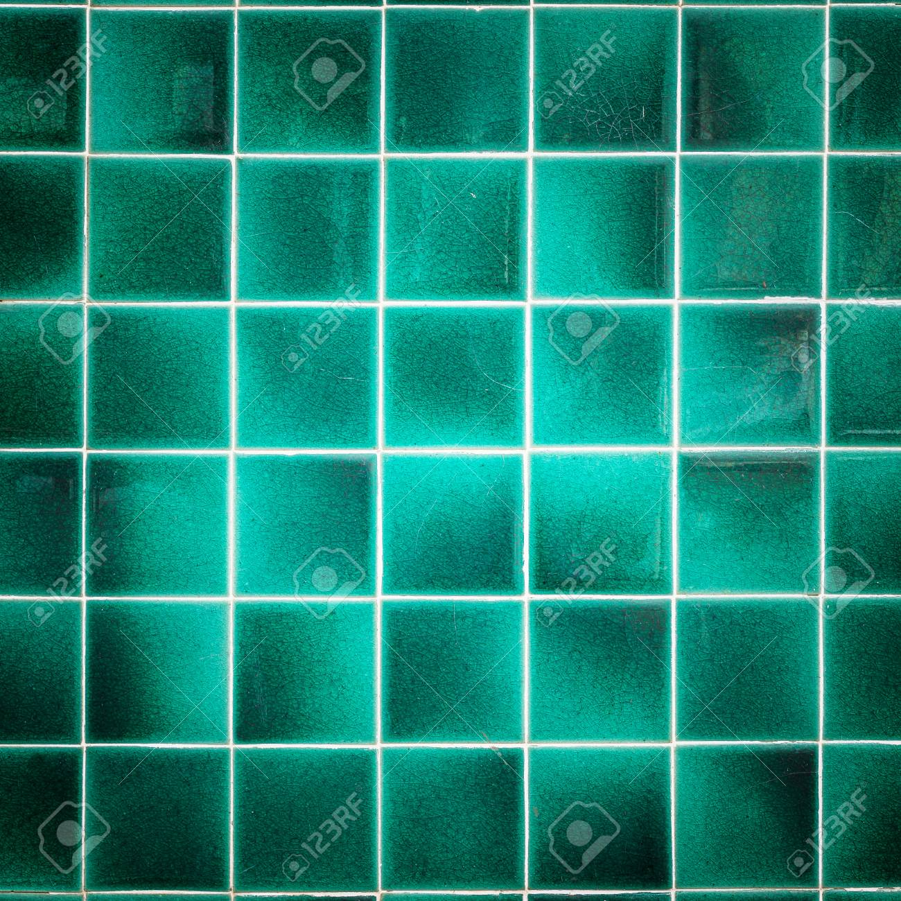 Close Up Old Pattern Green Ceramic Bathroom Wall Tile Texture ...