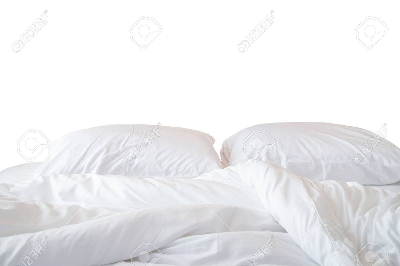 White bed sheets background Cosy Close Up White Bedding Sheets And Pillow Isolated On White Background Stock Photo 45842741 123rfcom Close Up White Bedding Sheets And Pillow Isolated On White