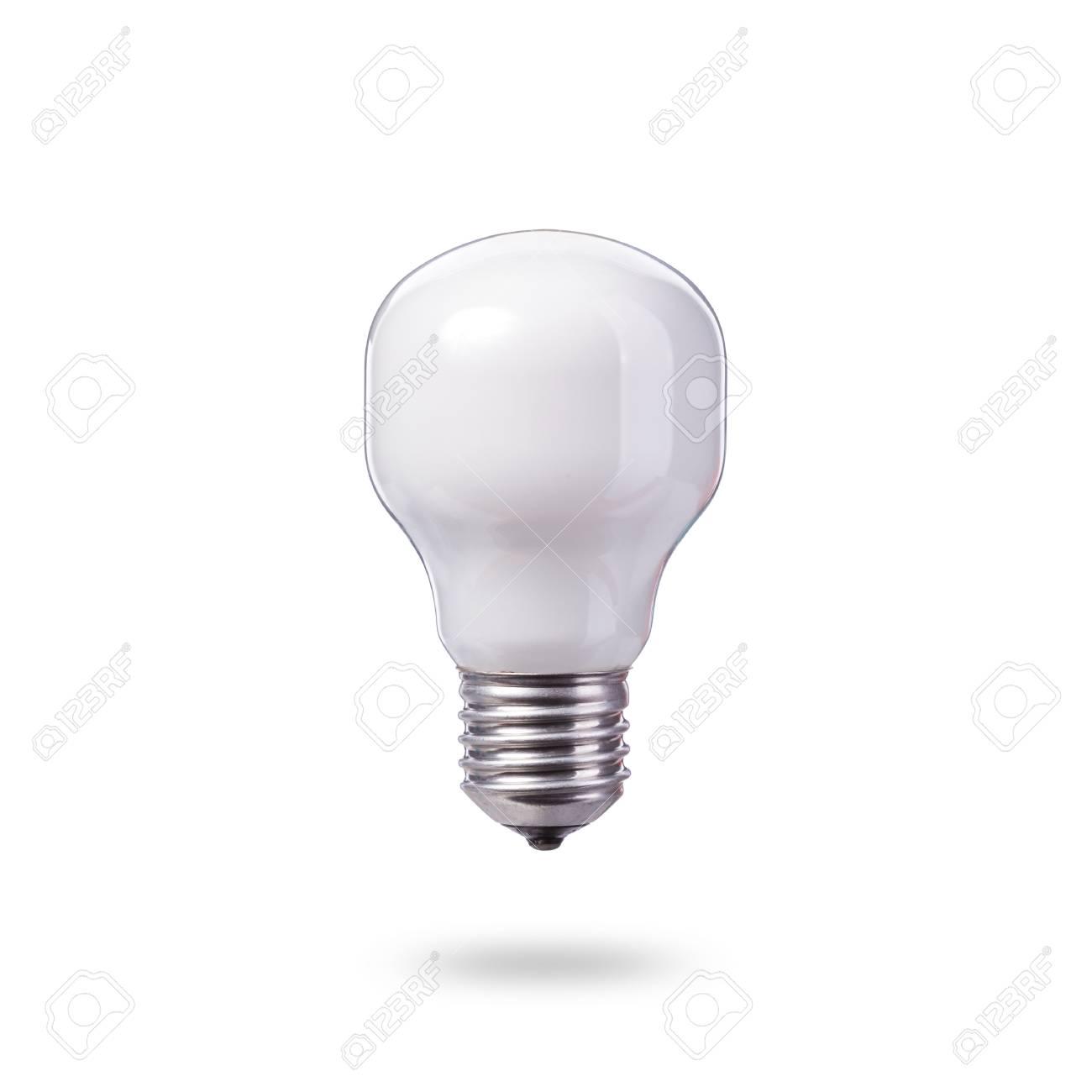 白の新しいホーム ライト電球 スタジオ撮影で孤立した白い背景