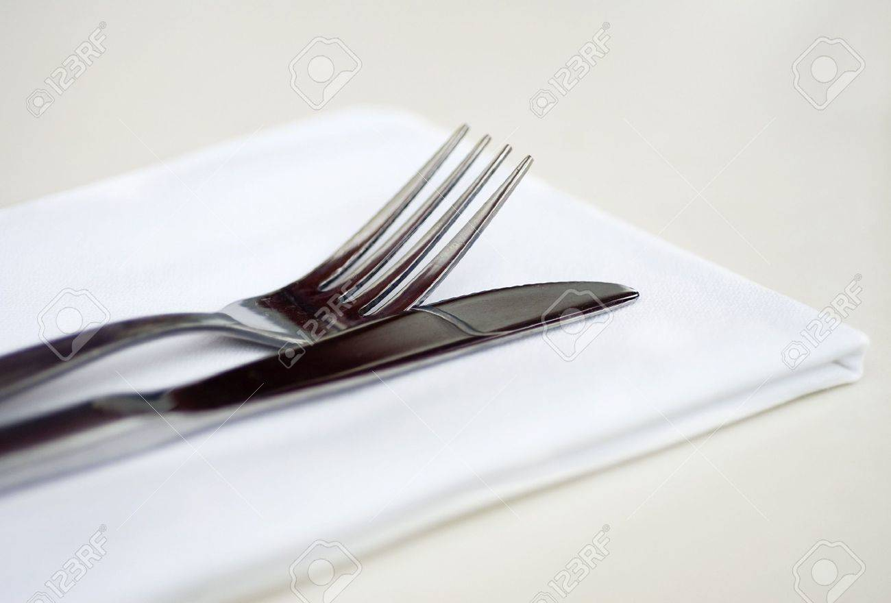 Knife and Fork table setting at restaurant Stock Photo - 1874191 & Knife And Fork Table Setting At Restaurant Stock Photo Picture And ...