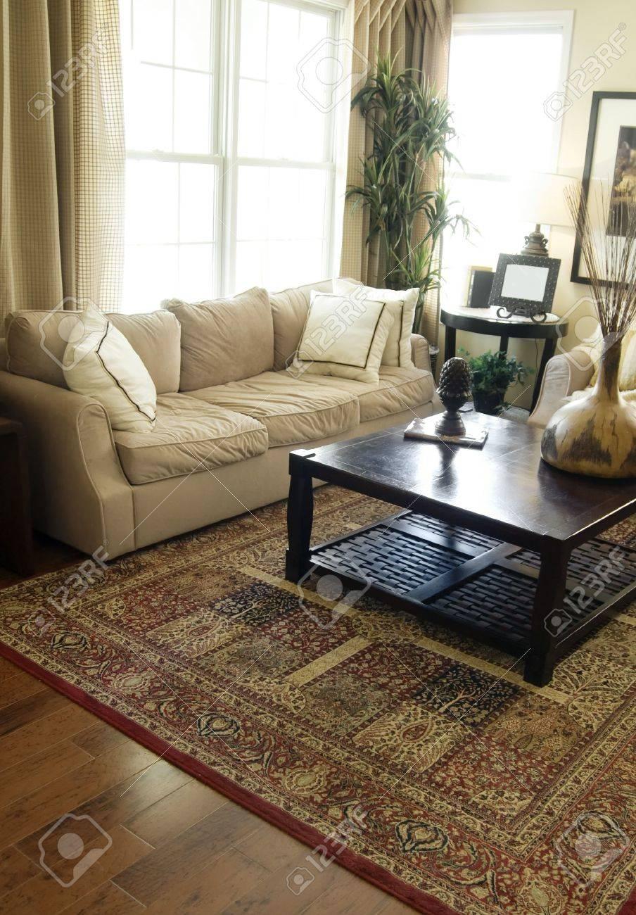 Bright modern interior Design with hard wood flooring Stock Photo - 2802578
