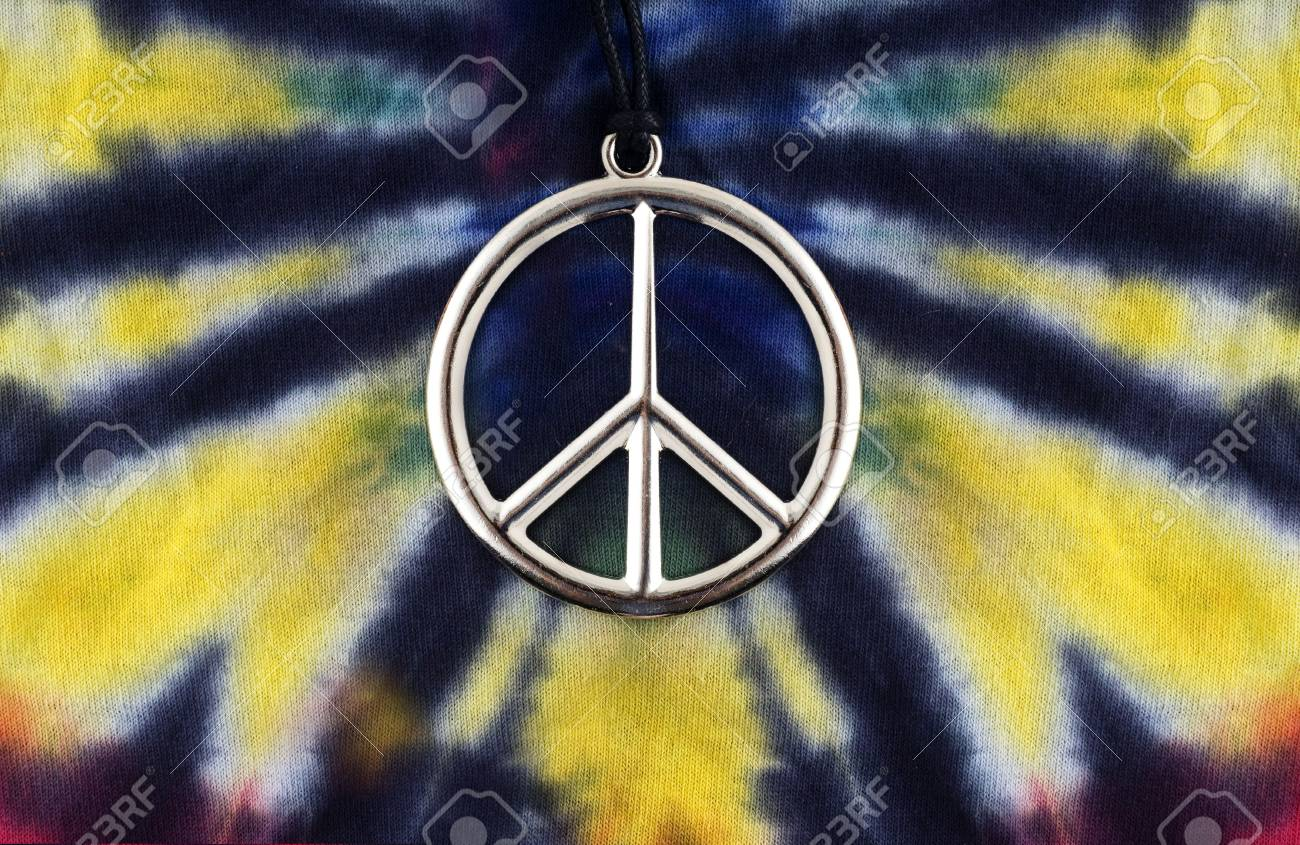 ba5e8382 Peace Sign With Tie Dye T-shirt Stock Photo, Picture And Royalty ...