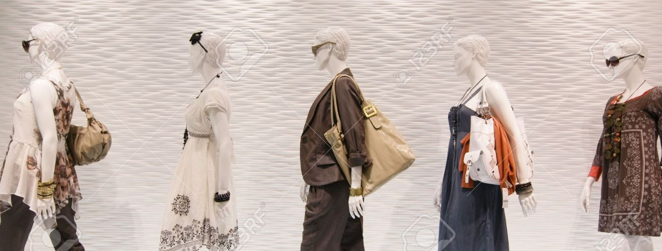 Fashion mannequins in window Stock Photo - 5206636