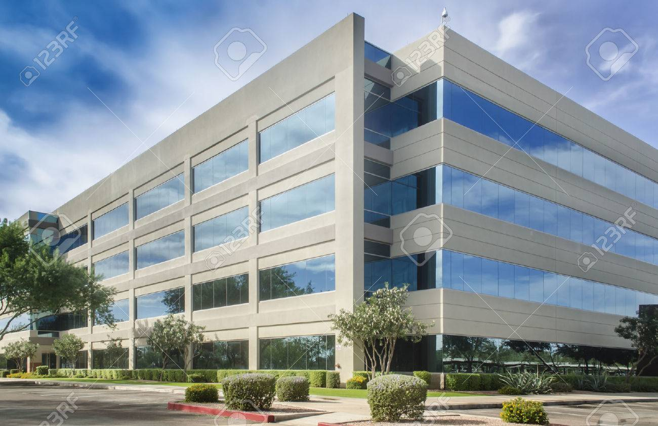 Modern Office Building Beautiful Sky Stock Photo Picture And