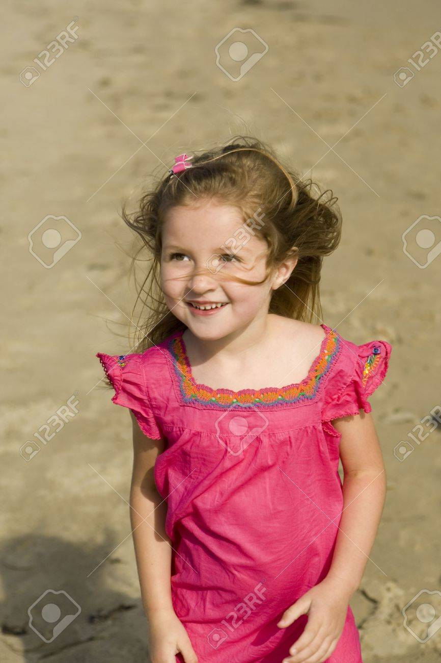 Beautiful little girl at the beach Stock Photo - 5189047