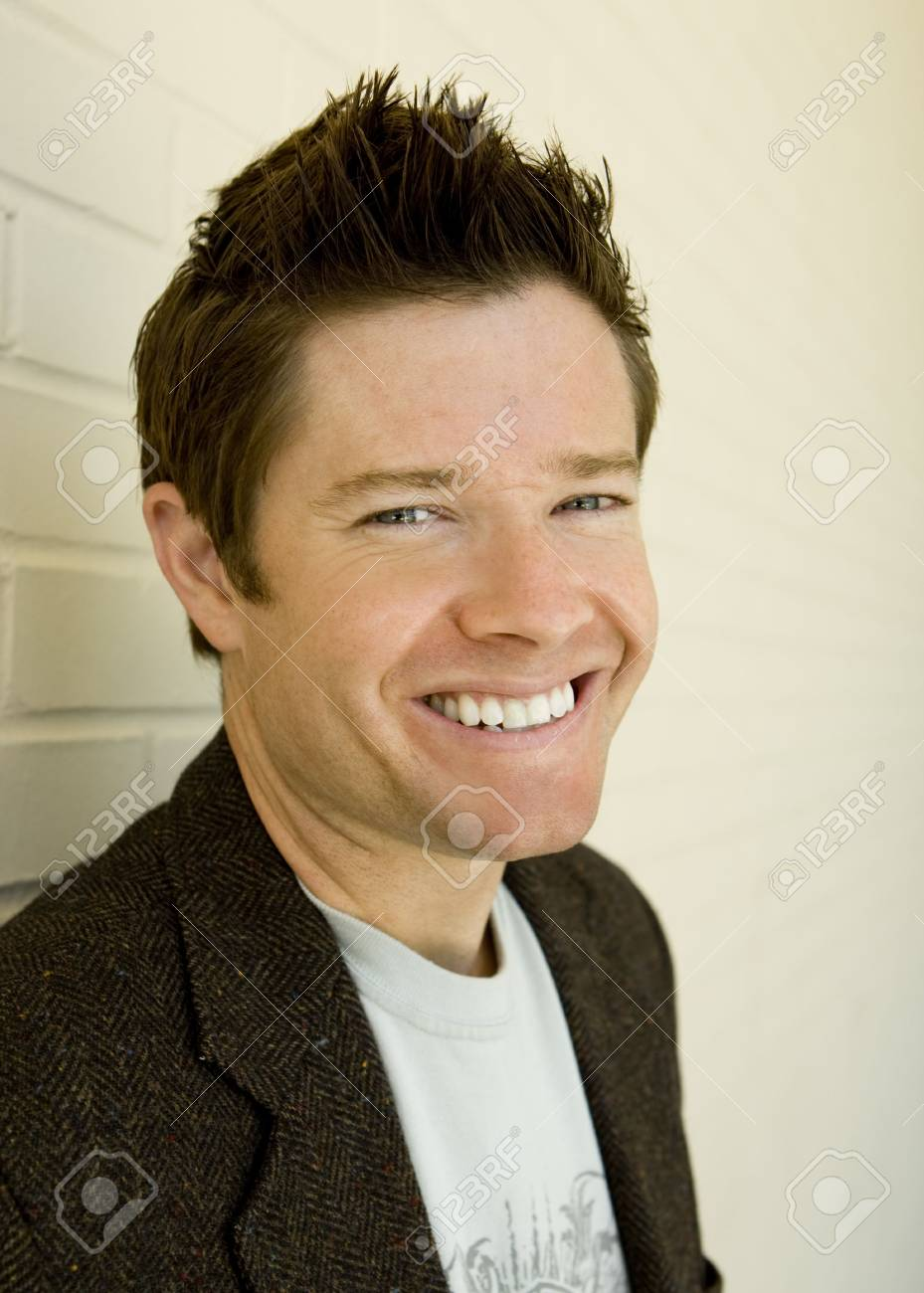 Young attractive man outside - closeup Stock Photo - 5335859