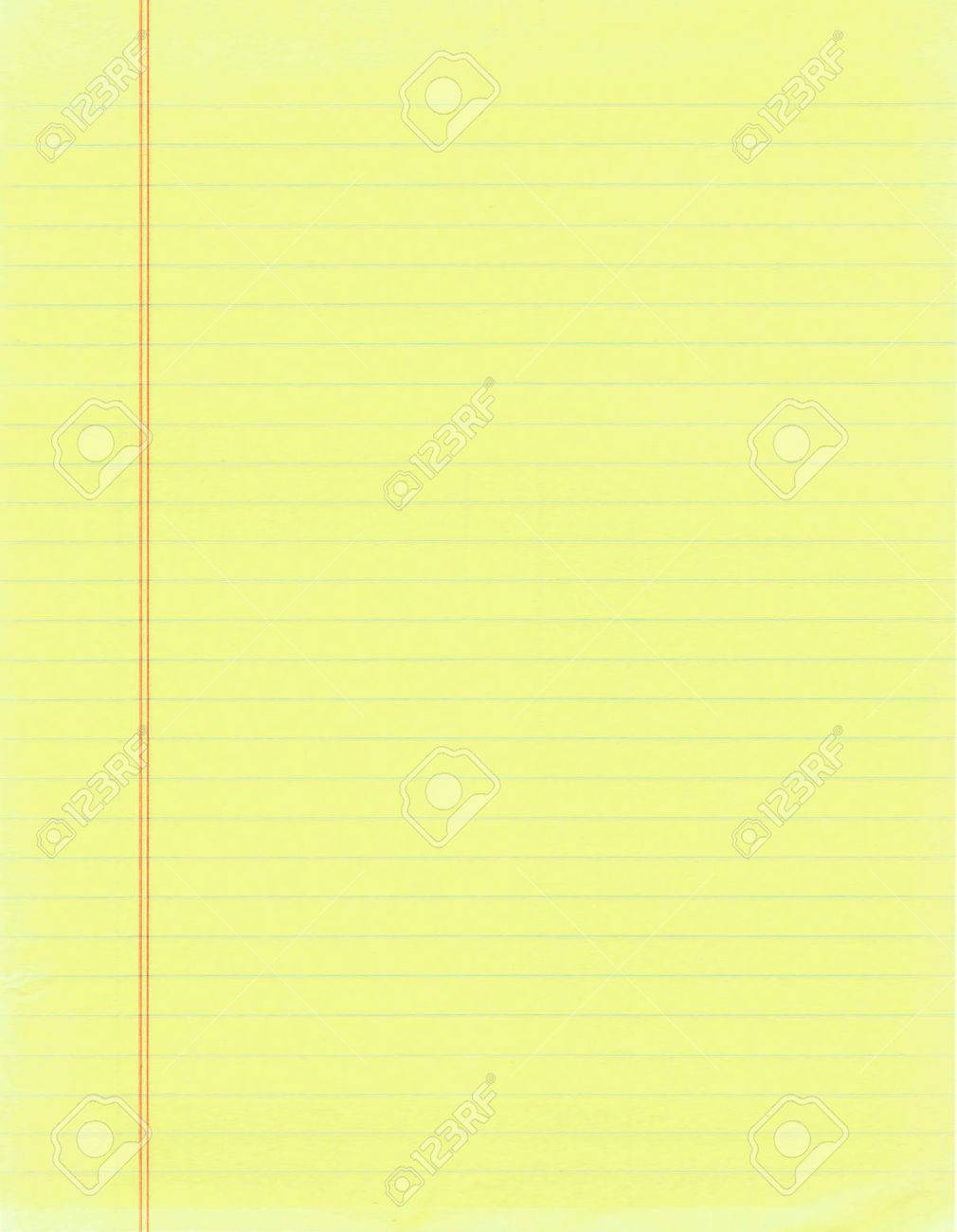 Blank Page Of Yellow Lined Paper Stock Photo, Picture And Royalty ...