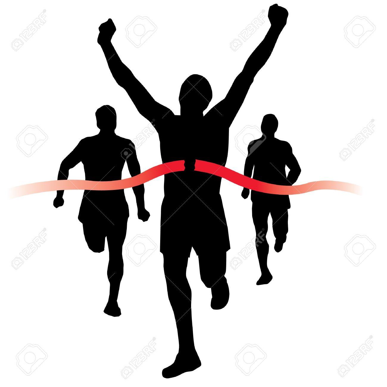 finish line race  Runner wins  Race Clipart Finish Line