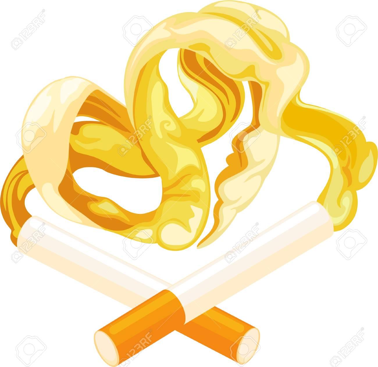 illustration smoke love Stock Vector - 12125537