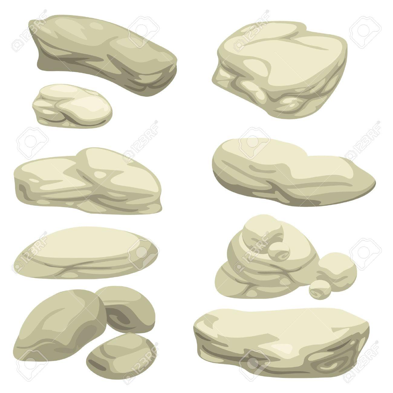 stone set illustrator Stock Vector - 12125400