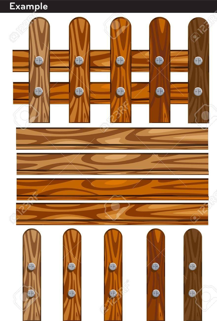 illustration Wooden fences Stock Vector - 12409150
