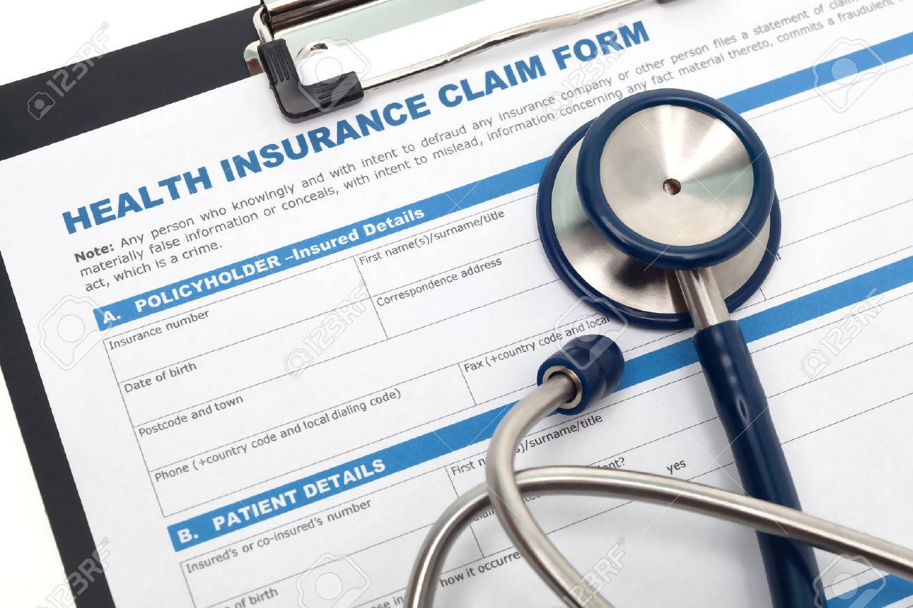 Medical And Health Insurance Claim Form With Stethoscope On – Medical Claim Form