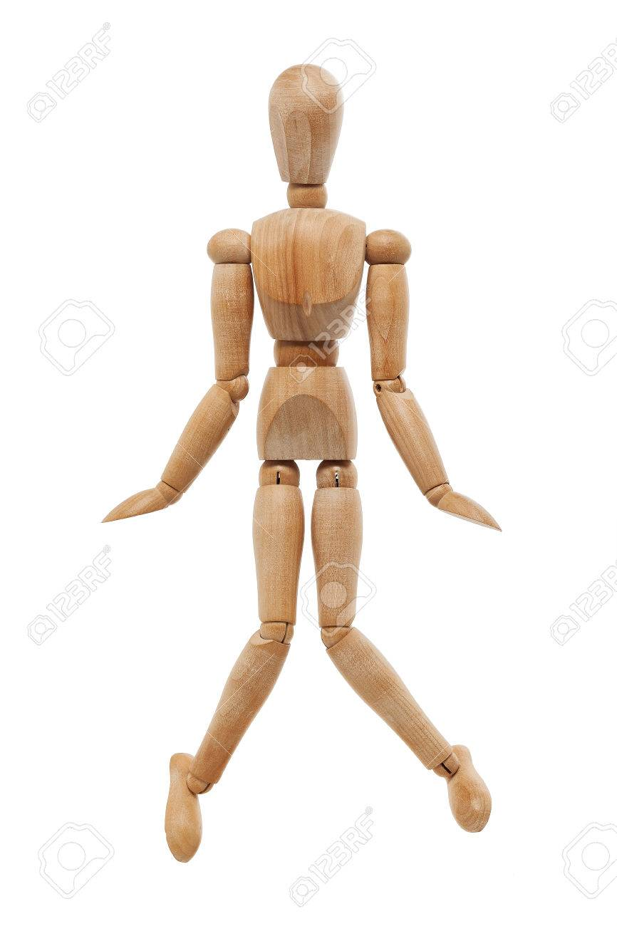wooden mannequin posing as toilet symbol stock photo picture and
