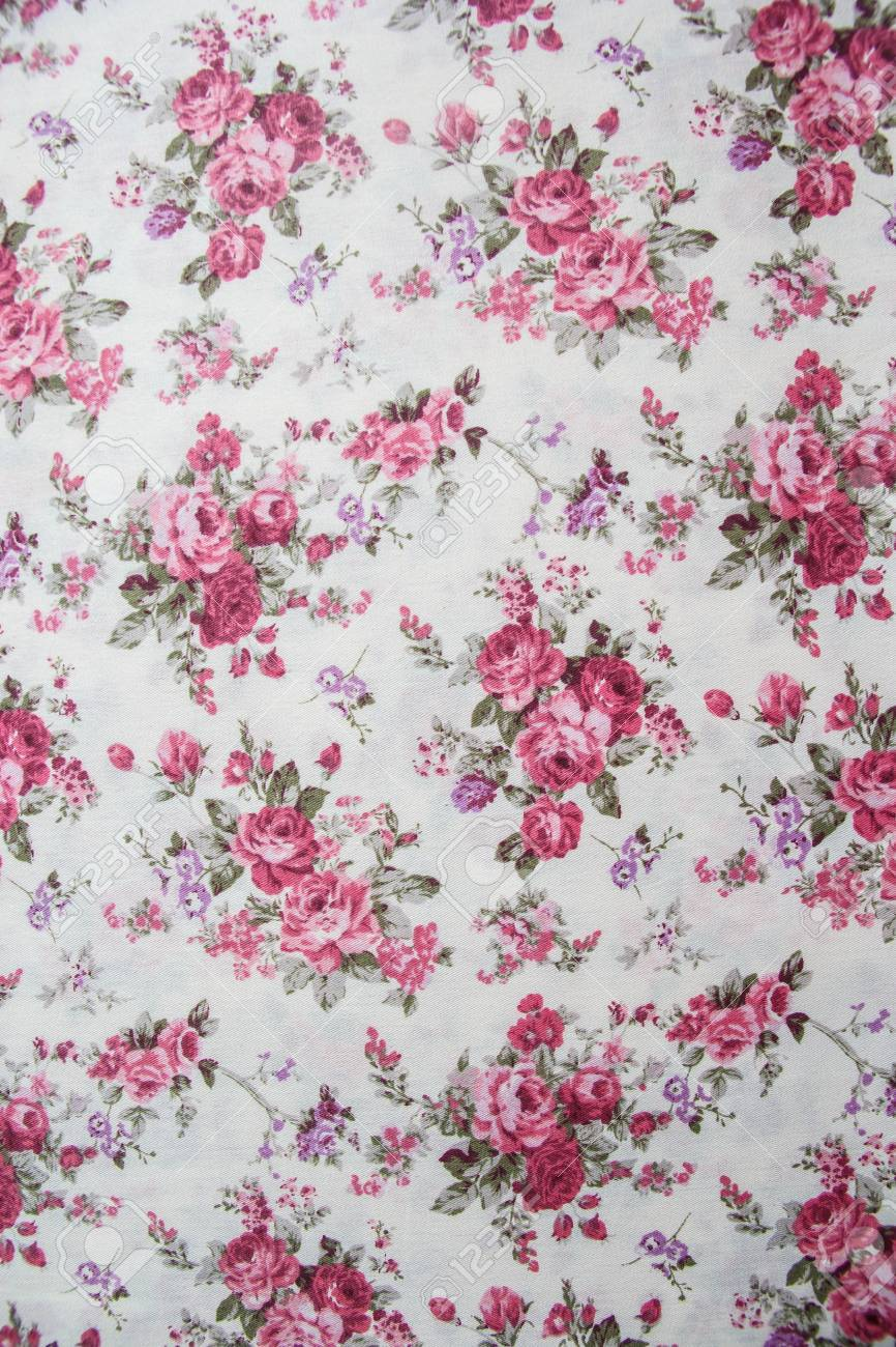 Rose bouquet design Seamless pattern on fabric as background - 18807252