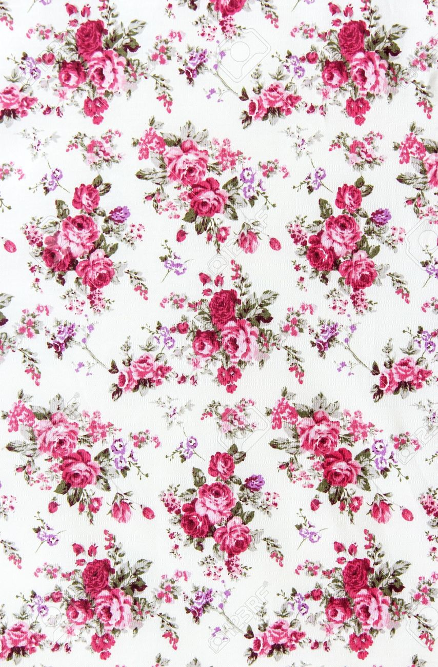 Rose bouquet design Seamless pattern on fabric as background - 21432606