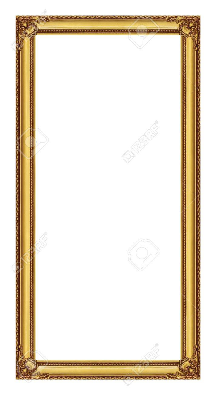 golden frame isolated on white background, with clipping path - 21432649