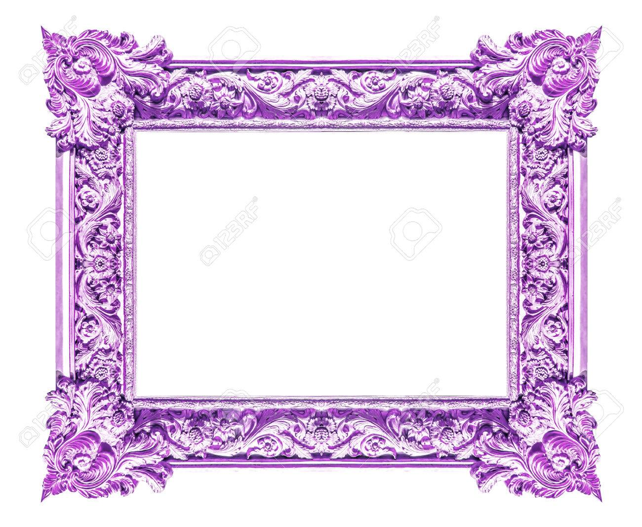 Picture Purple Frames Isolated On White Background Stock Photo ...